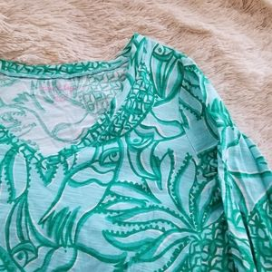 Lilly Pulitzer green blue toucan print dress med